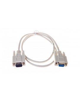 Kabel transmisyjny szeregowy RS232 Sub-D9 (F) - Sub-D9 (M) 1m