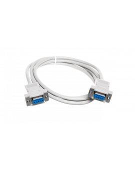 Kabel połączeniowy RS232 null-modem Typ DSUB9/DSUB9, Ż/Ż beżowy 1, 8m AK-610100-018-E