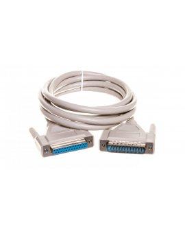 Kabel przedłużający LPT 1:1 Typ DSUB25/DSUB25, M/Ż beżowy 2m AK-610201-020-E