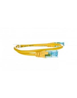 Kabel krosowy (Patch Cord) U/UTP kat.5e żółty 0, 5m DK-1512-005/Y