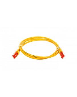 Kabel krosowy (Patch Cord) U/UTP kat.6 żółty 1m DK-1612-010/Y