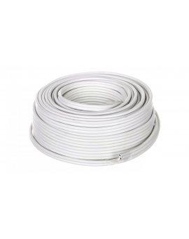 Przewód głośnikowy CU 2x2, 5 OFC biały 15116 /25m/