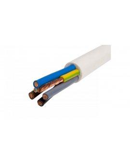 Przewód warsztatowy H05VV-F (OWY) 5x1, 5 żo biały /25m/