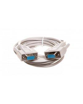 Kabel połączeniowy RS232 1:1 Typ DSUB9/DSUB9, Ż/Ż beżowy 3m AK-610106-030-E