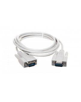 Kabel połączeniowy RS232 1:1 Typ DSUB9/DSUB9, M/M beżowy 2m AK-610107-020-E