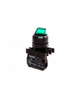 Przycisk pokrętny 2 położeniowy 1Z stabilny podświetlany 100-250V zielony T0-B100SL20Y