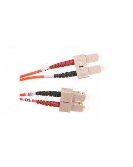 Patch cord światłowodowy SC/SC duplex MM 50/125 OM2 LSOH 2m pomarańczowy DK-2522-02