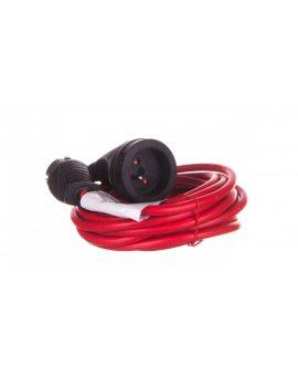 Kabel przedłużający (przedłużacz) 5m czerwony 1x230V H05VV-F 3G1, 5 1167454