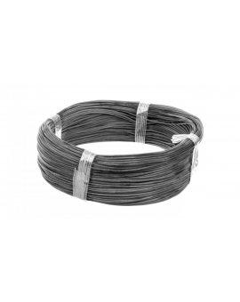 Przewód silikonowy SiF 1x0, 5 czarny 300/500V 23301 /100m/