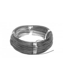 Przewód silikonowy SiF 1x0, 75 czarny 300/500V 23401 /100m/