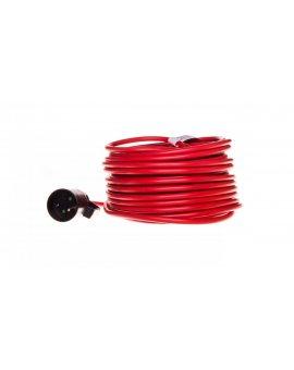 Kabel przedłużający (przedłużacz) 25m czerwony 1x230V H05VV-F 3G1, 5 1167474