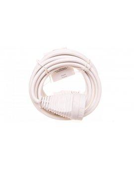Kabel przedłużajacy (przedłużacz) 5m biały 1x230V H05VV-F3G1, 5 1168444