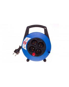 Przedłużacz zwijany kompaktowy Vario Line 4x230V 5m czarno-niebieski H05VV-F 3G1, 5 19, 5x24x7, 5cm 1092234