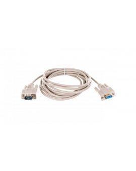 Kabel przedłużający RS232 1:1 Typ DSUB9/DSUB9, M/Ż beżowy 3m AK-610203-030-E
