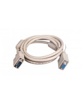 Kabel przedłużający SVGA Typ DSUB15/DSUB15, M/Ż beżowy 1, 8m AK-310203-018-E