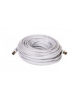 Przewód antenowy IEC 20m biały 50125