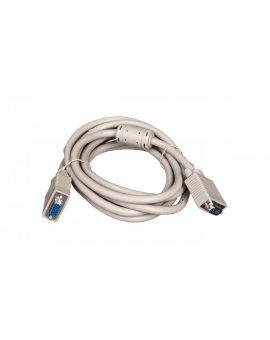 Kabel przedłużający SVGA Typ DSUB15/DSUB15, M/Ż beżowy 3m AK-310203-030-E