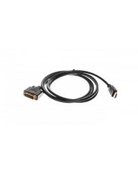 Kabel adapter HDMI Highspeed 1.3 Typ HDMI A/DVI-D(18+1), M/M czarny 2m AK-330300-020-S