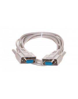 Kabel połączeniowy RS232 1:1 Typ DSUB9/DSUB9, Ż/Ż beżowy 2m AK-610106-020-E