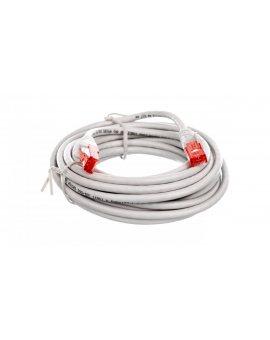 Kabel krosowy patchcord U/UTP kat.6 CCA szary 5m 68419