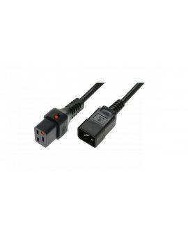Kabel zasilający serwerowy 3x1, 5 IEC C20 prosty/IEC C19 prosty M/Ż czarny IEC-PC1284 /1m/