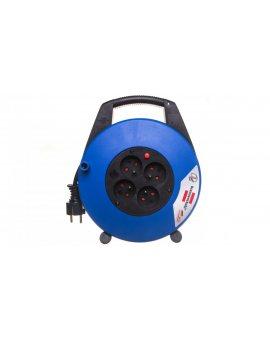 Przedłużacz zwijany kompaktowy Vario Line 4x230V 10m czarno-niebieski H05VV-F 3G1, 5 22, 5x27x8cm 1104464