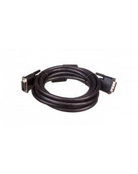 Kabel połączeniowy DVI-D Dual Link Typ DVI-D(24+1)/DVI-D(24+1), M/M czarny 3m AK-320101-030-S