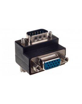 Adapter VGA D-Sub15 (F) - VGA D-Sub15 (M) kątowy 90stopni