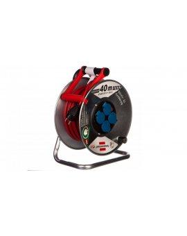 Przedłużacz bębnowy Garant S IP44 Super-Solid 40m 4x230V AT-N05V3V3-F 3G1, 5 czerwony1199844