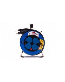 Przedłużacz bębnowy Garant Kompakt IP44 8m 4x230V H07RN-F 3G2, 5 czarny 1072444