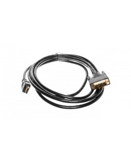 Kabel adapter HDMI Highspeed 1.3 Typ HDMI A/DVI-D(18+1), M/M czarny 3m AK-330300-030-S