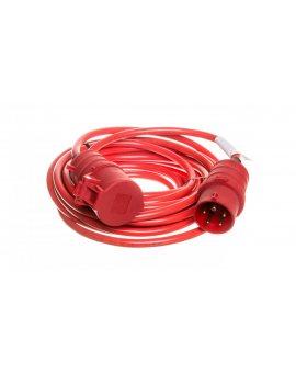 Kabel przedłużajacy (przedłużacz) Super-Solid IP44 10m CEE 400V/16A czerwony AT-N07V3V3-F 5G1, 5 1168580