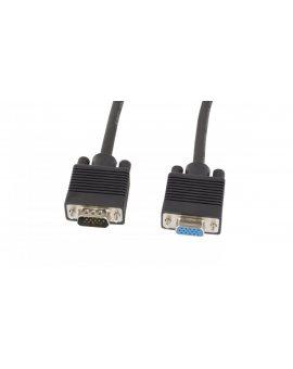 Przedłużacz kabla monitorowego VGA D-Sub(15-pin) ekran + ferryt 1, 8m CA-VGAC-10CC-0018-B+