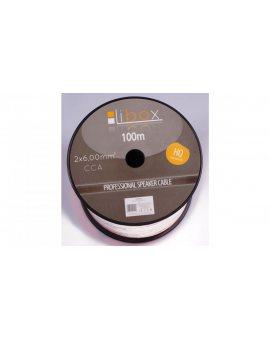 Przewód głośnikowy CCA 2x6 ECa LB0049 LIBOX /100m/