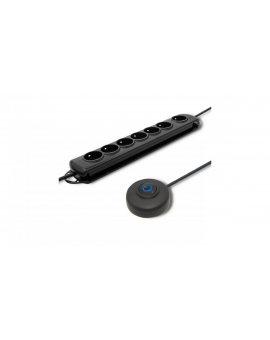 Listwa antyprzepięciowa z wyłącznikiem nożnym Quick Switch / 7 gniazd / 1.5m / 50171