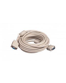 Kabel przedłużający SVGA Typ DSUB15/DSUB15, M/Ż beżowy 10m AK-310203-100-E