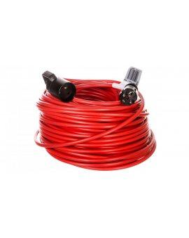 Kabel przedłużajacy (przedłużacz) 50m czerwony 1x230V H05VV-F 3G1, 5 1167504