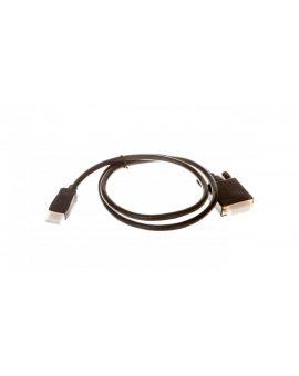 Kabel DisplayPort (M) - DVI-D (24+1) (M) DUAL LINK 1m