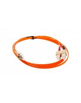 Patch cord światłowodowy SC/LC duplex MM 50/125 OM2 LSOH 2m 033063