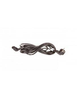 Kabel zasilający kątowy Schuko (type F, CEE 7/7) > C13 5m 93119