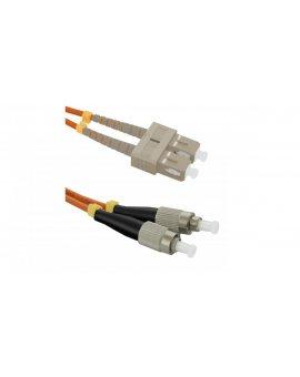 Patchcord światłowodowySC/UPC-FC/UPC MM 50/125 OM2 1m/54047