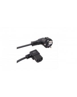 Kabel zasilający kątowy 3 pin 1, 5M wtyk EU Maclean MCTV-802 MCTV-802