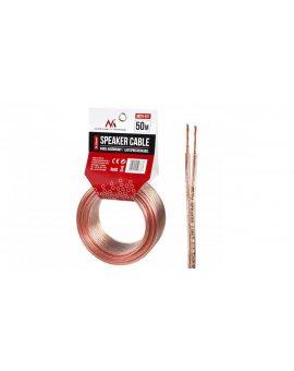 Kabel głośnikowy Maclean MCTV-511 2*1.5mm2 / 48*0.20CCA 3, 5*7, 0mm TRANSPARENT PVC 50m MCTV-511