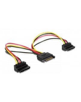 Kabel DELOCK 60128 (SATA 15-pin - SATA 15-Pin 0, 15m kolor czarny)