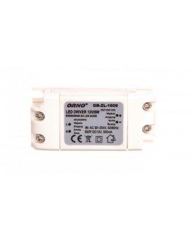 Zasilacz LED 12V DC 6W 0, 5A IP20 OR-ZL-1609