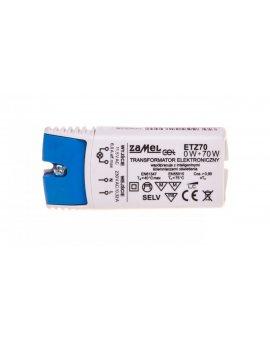 Transformator elektroniczny 230/11, 5V 0-70W ETZ70 LDX10000043