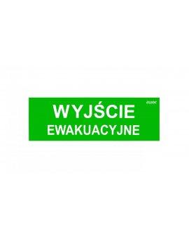 Piktogram 100x300 PM21 wyjście ewakuacyjne logo awex (ISO7010)