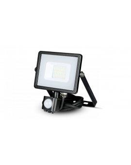Projektor LED 20W 1600lm 4000K Dioda SAMSUNG z czujnikiem ruchu PIR Czarny IP65 452