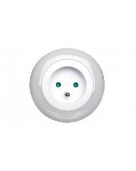 Lampka nocna LED 0, 63W z czujnikiem zmierzchu + gniazdo 230V P3307