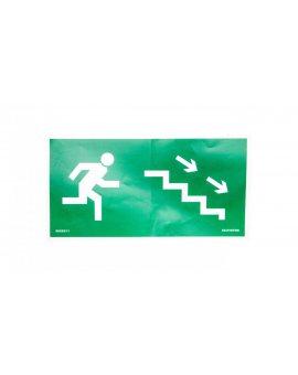 Piktogram 150x300 prawo doł schody 9849031